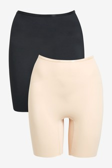 Black/Nude Thighsmoother Two Pack