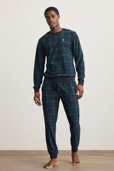 Green/Navy Motionflex Cosy Pyjamas