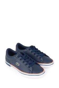 Lacoste Kids Boys Navy Trainers