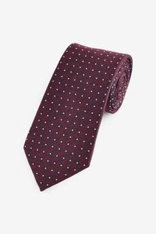 Burgundy Spot Pattern Tie