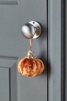 Orange Velvet Pumpkin Hanging Decoration