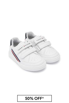 Tommy Hilfiger Kids White Trainers