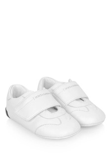 Dolce & Gabbana Kids Baby Boys White Leather Pre-Walker Trainers