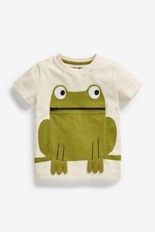 Ecru Frog Appliqué T-Shirt (3mths-7yrs)
