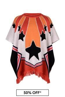 Stella McCartney Kids Girls Red Knitted Cheerleader Cape