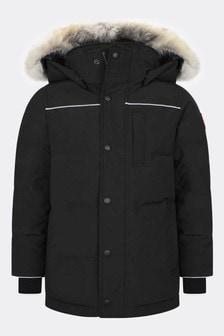 Canada Goose Youth Eakin Black Parka Coat