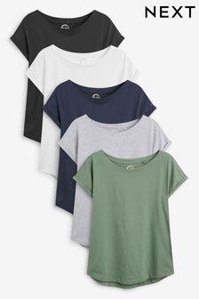 Multi Cap Sleeve T-Shirts Five Pack