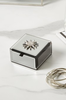 Silver Brooch Jewellery Box