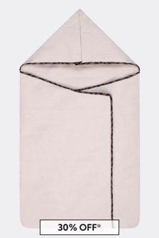 Fendi Kids Baby Beige Cotton Logo Nest