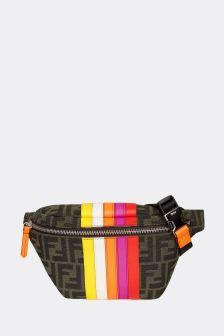 Fendi Kids Brown Cotton Belt Bag