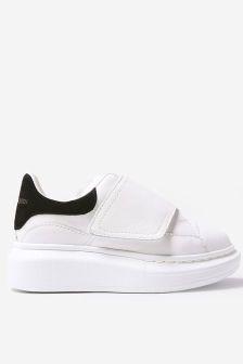 Alexander McQueen Kids Leather Velcro Trainers