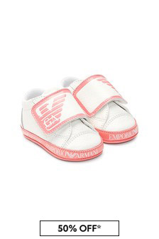 Emporio Armani Baby Girls White Trainers