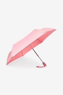 Pink Floral Border Automatic Open/Close Umbrella