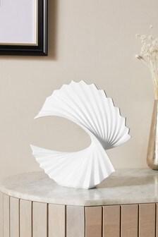 White Spirograph Sculpture