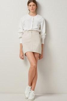 Ecru Denim Mini Skirt