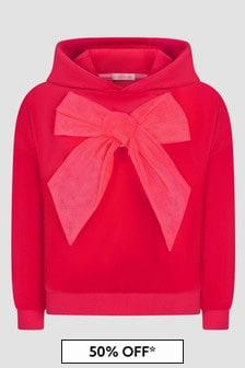 Billie Blush Girls Red Hoodie