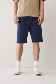 Navy Relaxed Fit Jersey Shorts
