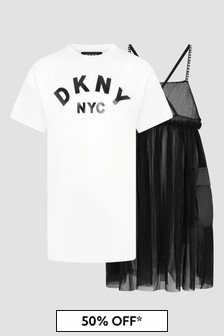 DKNY Girls Black Dress