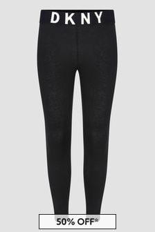 DKNY Girls Black Leggings
