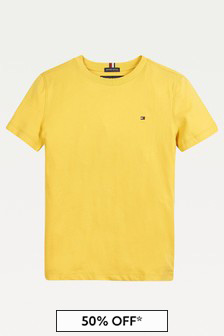Tommy Hilfiger Boys Yellow T-Shirt