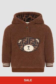 Fendi Kids Baby Brown Hoodie