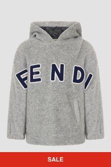Fendi Kids Grey Hoodie