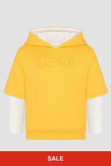 Fendi Kids Boys Yellow Hoodie