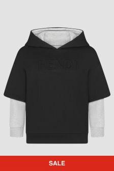 Fendi Kids Boys Black Hoodie