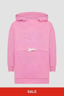Fendi Kids Girls Pink Hoodie