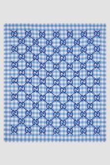 GUCCI Kids Baby Boys Blue Blanket