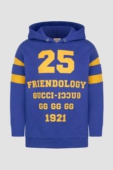 GUCCI Kids Boys Blue Hoodie
