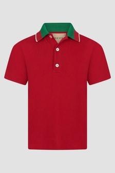GUCCI Kids Red Polo Shirt