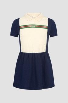 GUCCI Kids Girls Navy Dress