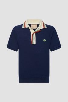 GUCCI Kids Navy Polo Shirt