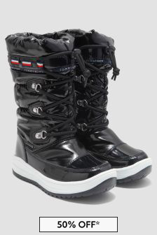 Tommy Hilfiger Girls Black Boots