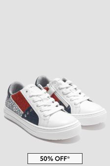 Tommy Hilfiger Girls White Trainers