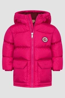 GUCCI Kids Baby Girls Fuchsia Jacket