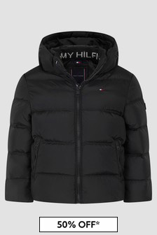 Tommy Hilfiger Boys Black Jacket