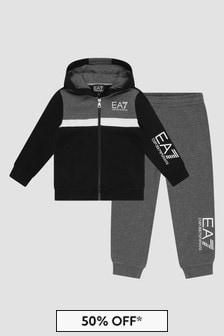 EA7 Emporio Armani Boys Black Tracksuit