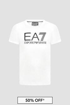 EA7 Emporio Armani Boys White T-Shirt