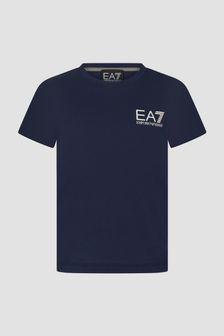 EA7 Emporio Armani Boys Navy T-Shirt