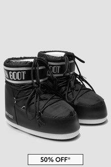 Moonboots Girls Black Snow Boots