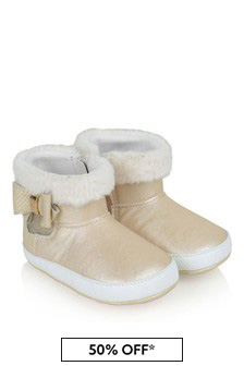 Mayoral Baby Girl Champagne Booties