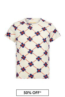 Mini Rodini 걸스 화이트 티셔츠