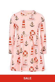 Mini Rodini 걸스 핑크 드레스