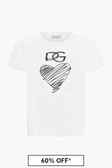 Dolce & Gabbana Kids Girls White T-Shirt