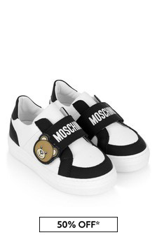 Moschino Kids Leather Teddy Trainers