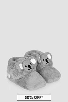 UGG Baby Unisex Grey Bixbee Koala Booties