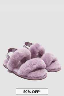 UGG Girls Lilac Oh Yeah Slippers