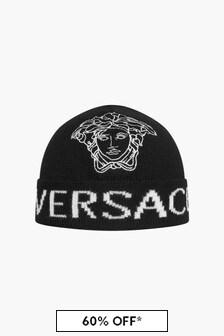 Versace Kids Black Hat